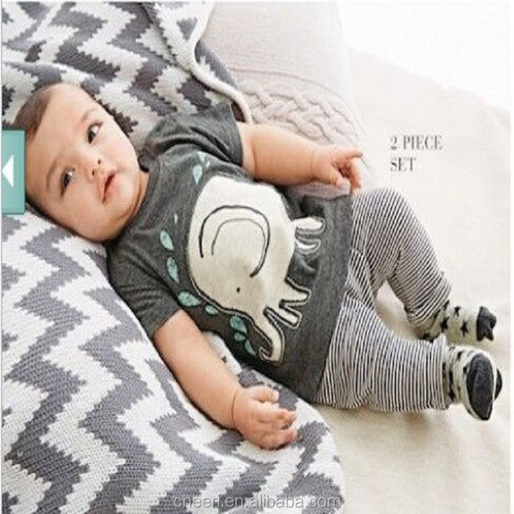 HT-BO 2017 new style baby clothing boutique summer outfits 2 piece boys clothing sets baby clothes 1 set