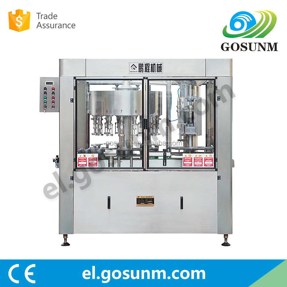 mineral water carbonated Wine beverage filling washing capping sealing machine