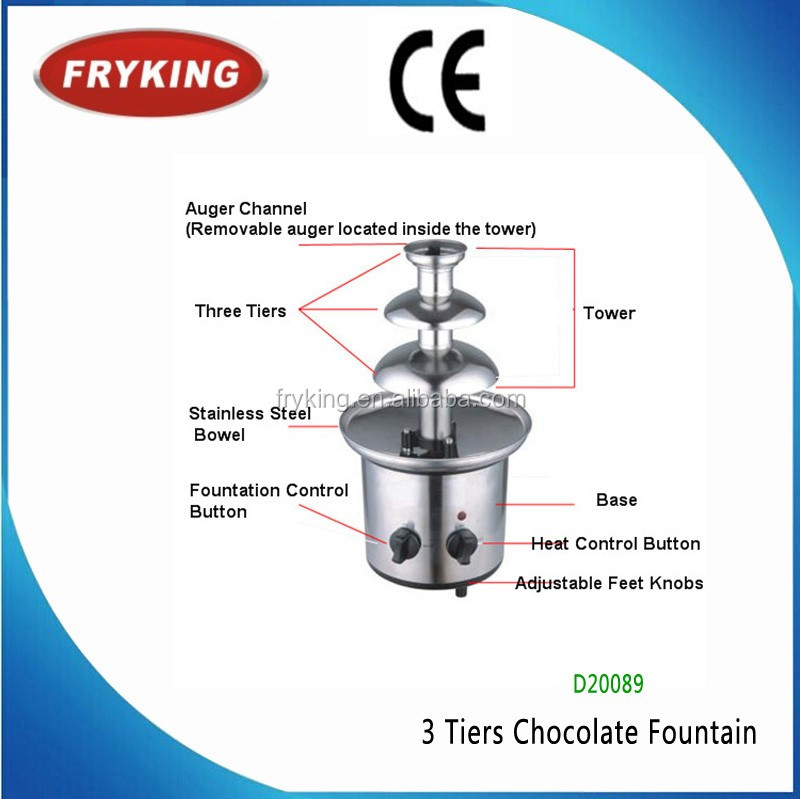 CE hot sell chocolate fountain machine best price