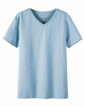 The New Style Of The Summer 2018 Season Is Slim, V-neck And Fashionable Young Men's T-shirts