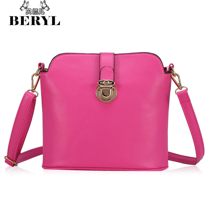 2015 Fashion Women Shoulder Bags Women's Leather Messenger Bags Bucket Bag Casual Lady Crossbody Bag Small Handbag Bolso Sac #46