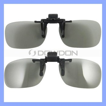 HD 3D Video TV Program Television Stereo Glass Clip Polarized Lens for LG