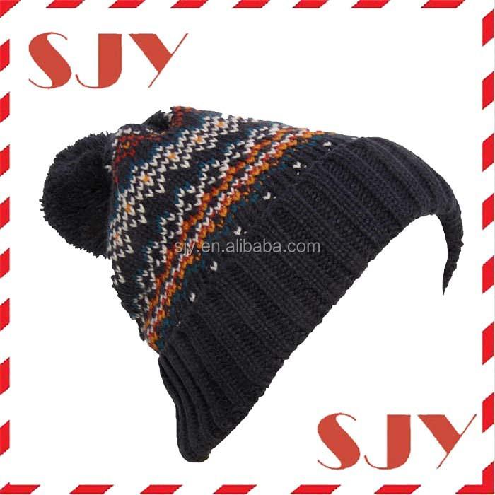 Women Men Knit Beanie Hat Oversized Ski Puffball Winter Hat - Buy ... 55f76978985