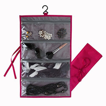 Custom nylon hanging jewelry roll bag wholesale