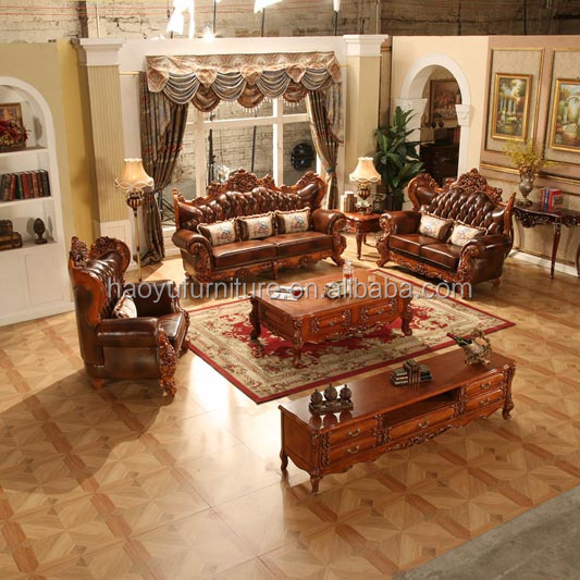 AM971 antique living room furniture sofa set