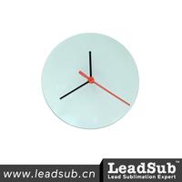 High Quality Sublimation Glass Clock Guangzhou Factory