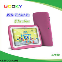 M755D IPS Kids Tablet PC Android 4.4 7 inch 1024x600 RK3126 Quad Core Dual Cam 8GB Storage Kids Games EDU Tablet