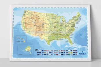 Wholesale Usa Deluxe Scratch Off Map Travel Poster - Buy Scratch Usa ...