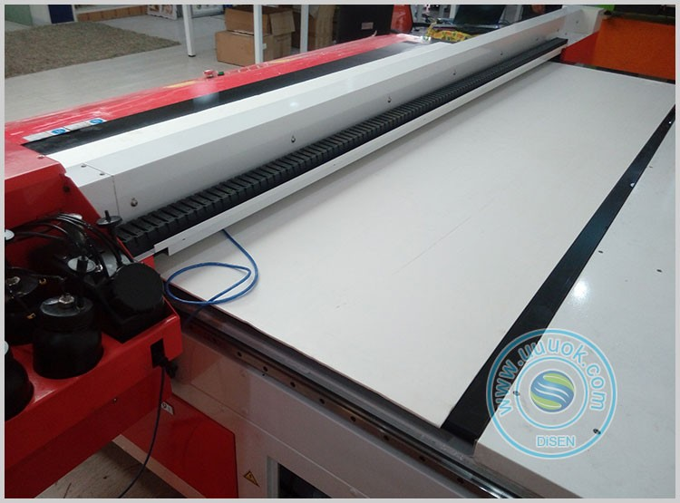 Multifunctional high speed UV 1.3*2.5M flat wood glass metal printer