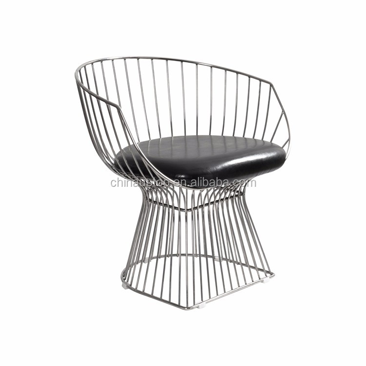 Home Furniture Replica Knoll Platner Armchair Metal Wire Chair, Lounge  Bistro Replica Wire Bar Stools