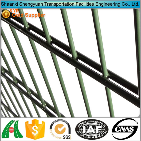 Pvc coated twin wire 868 fence panel/Construction Zone Garden Modern Fence / twin wire fence with two horizontal wire