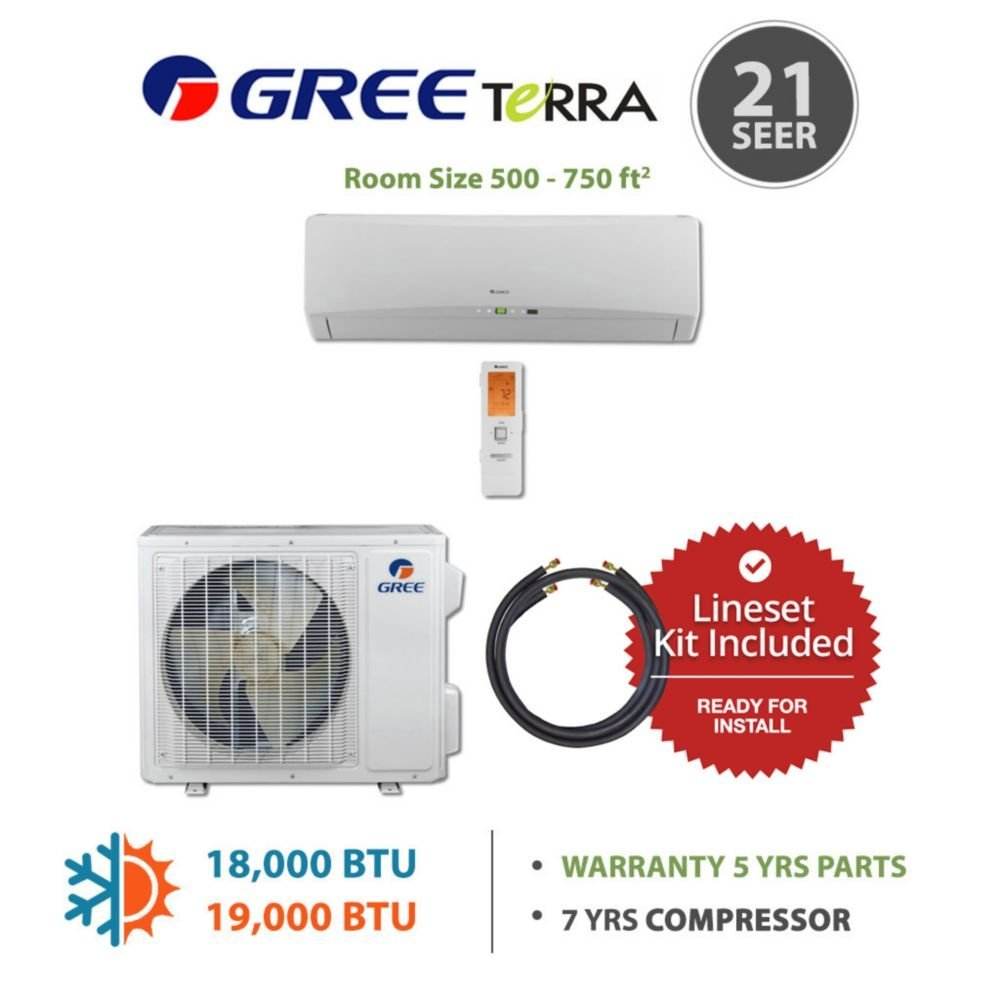 Buy Gree Terra18230 145815 18000 Btu 21 Seer Wall Mounted Mini Air Con Split Wiring Diagram Conditioner With