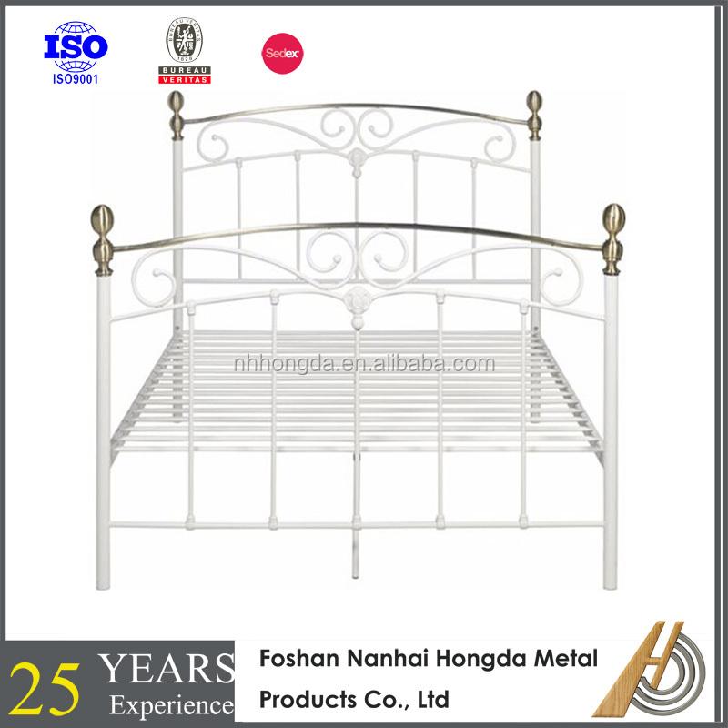 King size cama de metal de oro marco de latón-Camas de metal ...