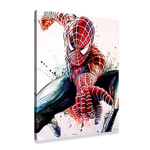 Marvel Comic Poster Superhero Spider Man Watercolour Art Canvas Wall Painting Picture For Home Decoration
