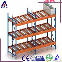 Customize Pallet Carton Flow Rack/Roller Racks/Roller Racking Systems With Abs Skate Wheels