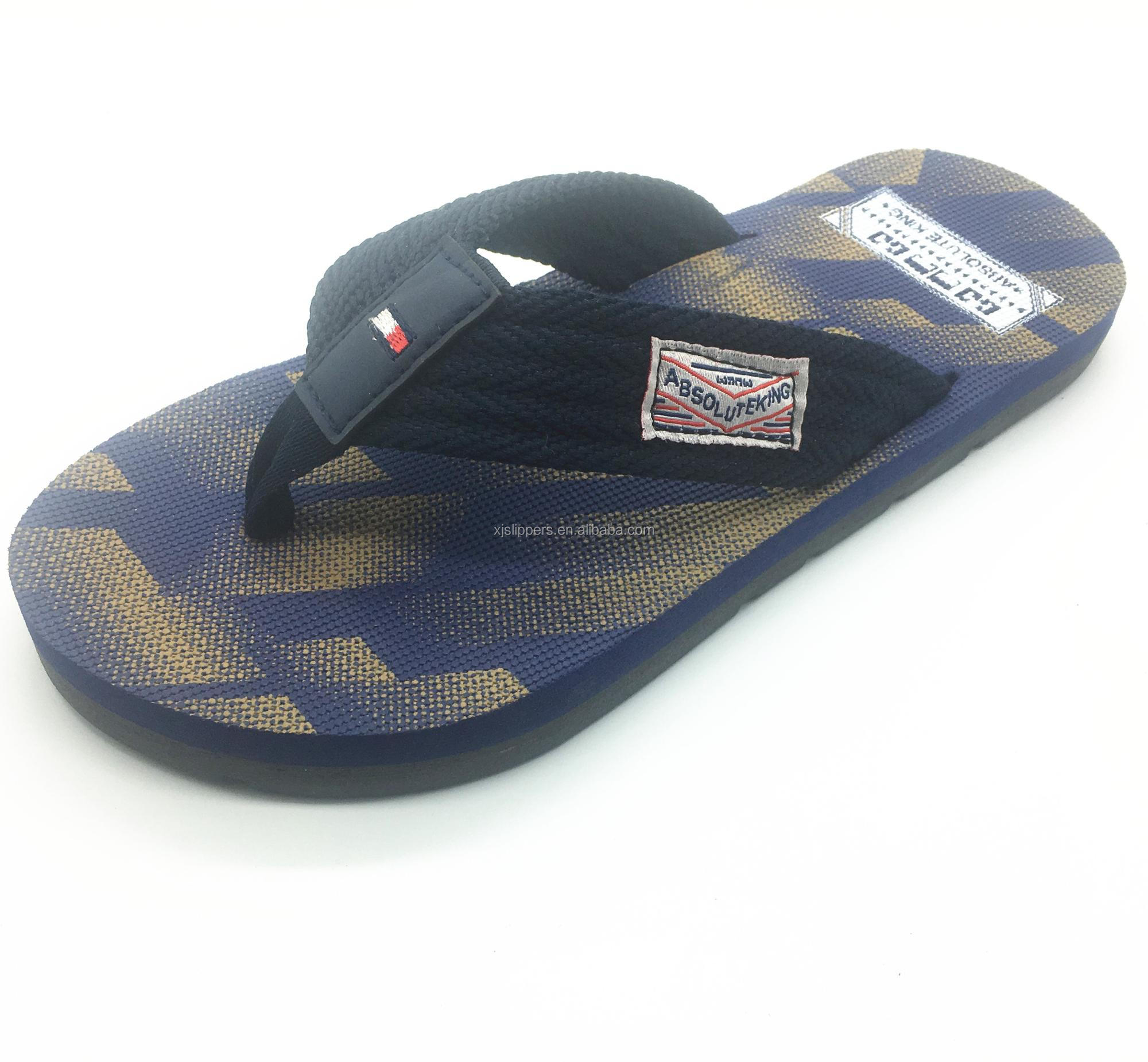 cb03df3f6ab4e8 Cheap wholesale men durable printed beach eva flip flop slipper custom logo  men flat fancy casual
