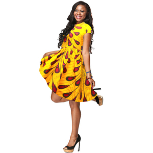 ZH089 Africa fashion new design women batik fabric dress