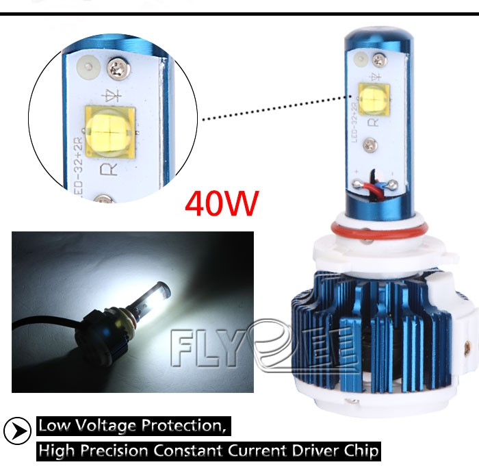 2016 High Power Car Light Kit 40w 4800lm Crees V16 Turbo Led ...