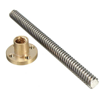 China suppliers fasteners 12mm trapezoidal threaded rod with nut