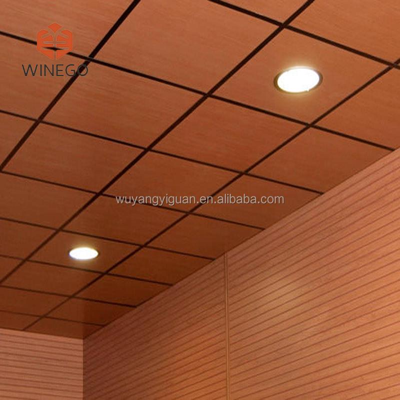 Veneer Wood Drop Ceiling Tiles For Home