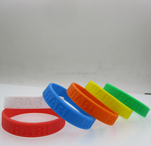 Customized Brand Eco-friendly Rubber Bands Silicone Wristband For Basketball