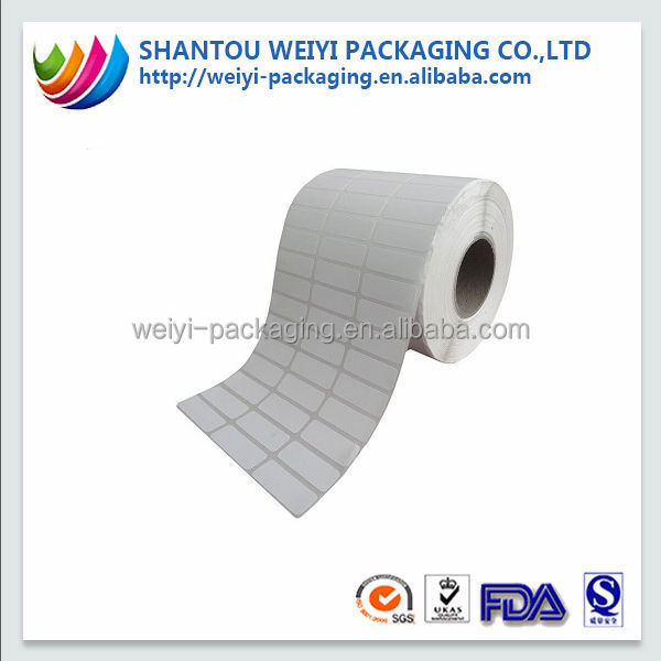 Self adhesive peel off blank sticker paper roll
