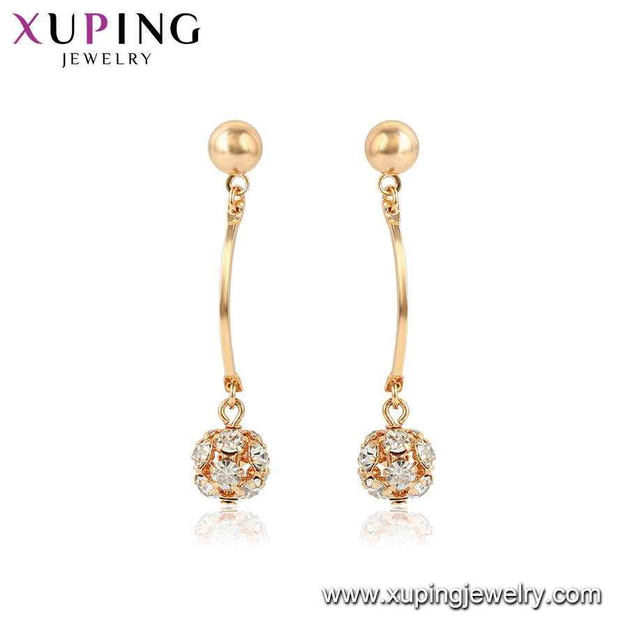 95774 xuping new arrival top grade magnetic 18k gold plated dangling earring with promotion price imitation jewelry