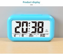 ABS Material and Digital Type led alarm clock wall mounted with nightlight function