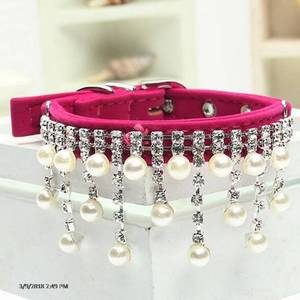 Pet Collar Cute Puppy Pets Dogs Pearl Necklace