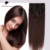 Standard Weft Clip in Human Hair Extensions Remy 8 Pieces Full Head Straight Wigs