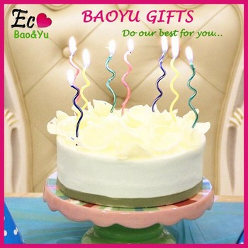 2015 Factory Wholesale Birthday Candles Cake Spiral