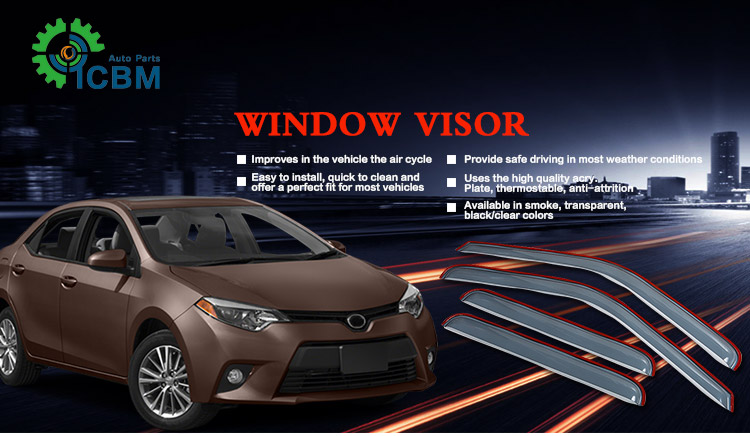Flexible and excellent quality car window visor