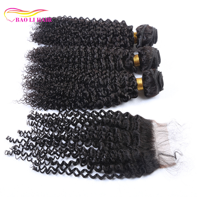 3 pcs of fumi hair mink brazilian extension 7a peruvian tight wave virgin human hair weave bundle with lace closure piece