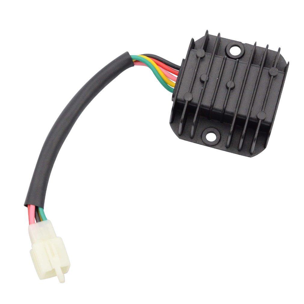 Parts GOOFIT 4 Pin Voltage Regulator for GY6 150cc and CG