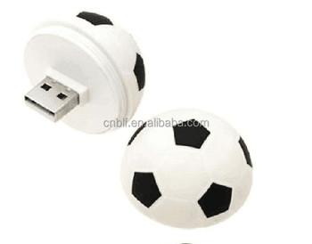 Bonito Dos Desenhos Animados De Plástico Bola De Futebol Forma Especial Dom  USB Flash Drive 8 1d9e8e91f3519