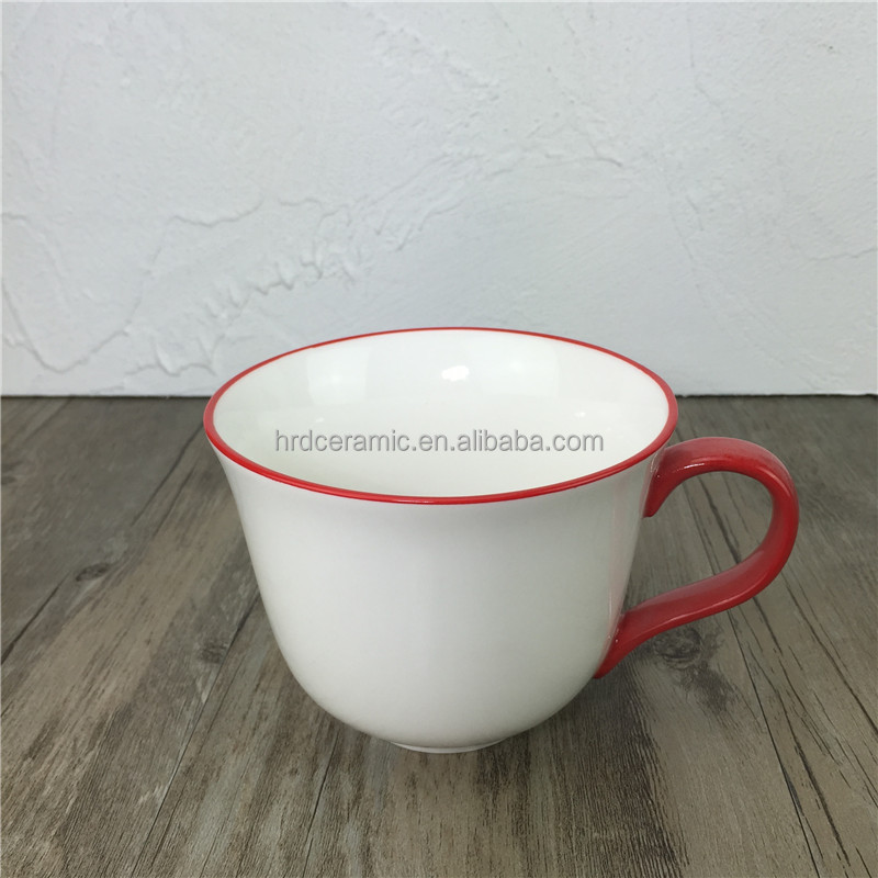 stocked, eco-friendly ceramic custom enamel mug fine porcelain mugs 15 oz