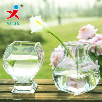 Wholesale High Quality Clear Decorative Glass Vase New Glass Fish