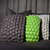 Handmade knit stuffed floor cushion _size and color can be customized