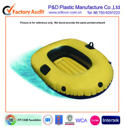 Yellow single inflatable boat,pvc boat