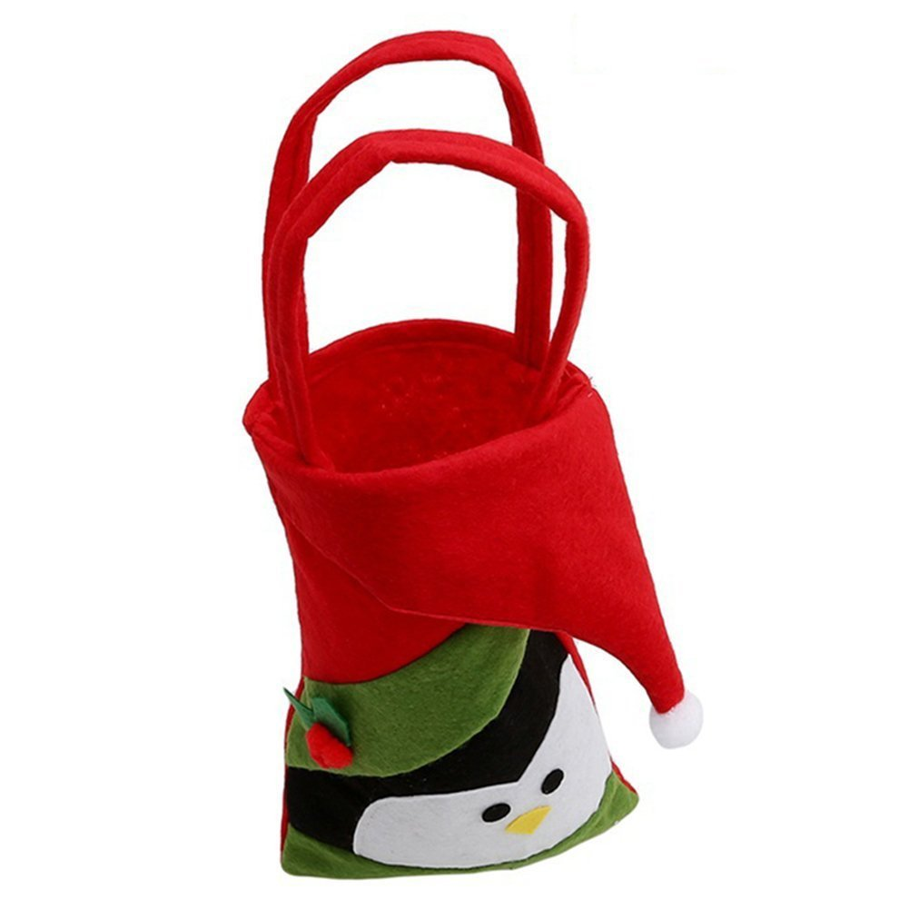 b223e8b77b5 Get Quotations · PanDaDa Christmas Bags Stocking Xmas Santa Snowman Elk  Penguin Kid Gift Candy Gift Bag Stocking Filler