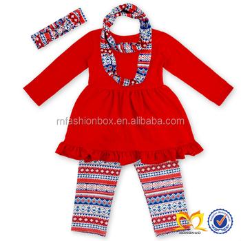 59704282f Girls Fall Bulk Designer Scarf Outfit Aztec Legging Kids Branded Clothing  Wholesale Toddler Boutique Clothing