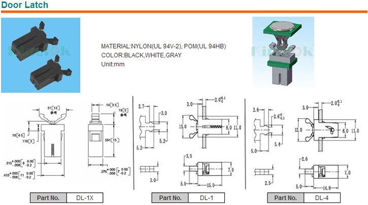 Superior Plastic Magnetic Push Latch Door Hardware