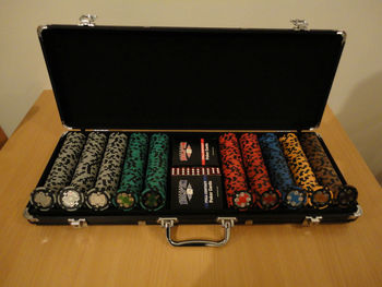 Poker chip set in leather case royal slots free coins
