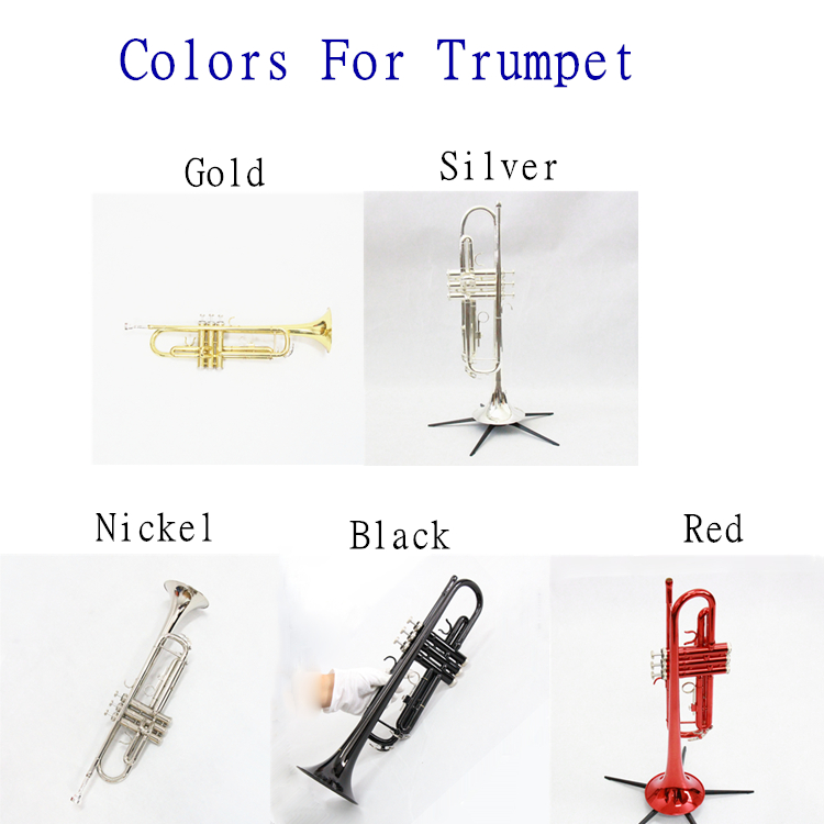 Wholesale Cheap Brass Trumpet Bb Color Trumpet Black