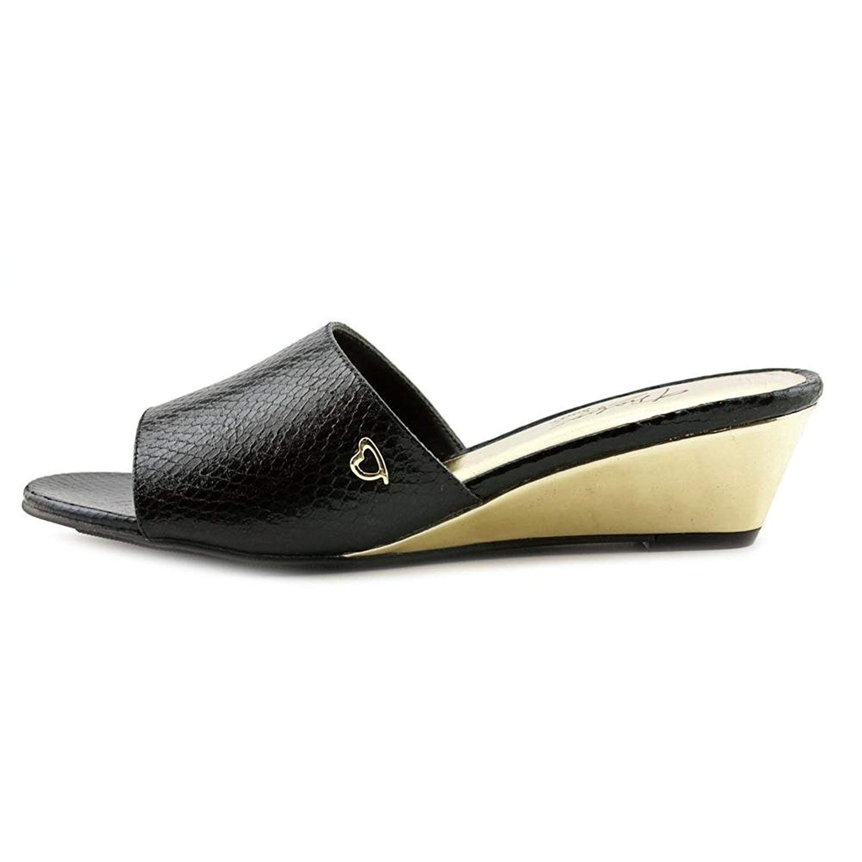 27c6fee06 Get Quotations · Thalia Sodi Womens Riya Fabric Open Toe Casual Mule Sandals,  Black, Size 9.0