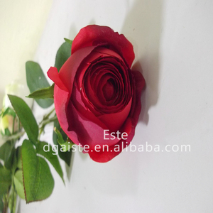 Artificial wedding decor fabric ccloth rose flower