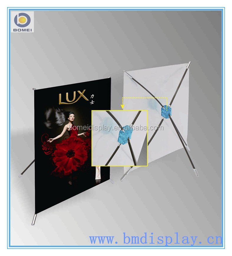 desktop X banner stand cheap X banner stand table top X stand.