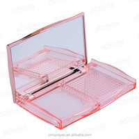 Empty Plastic Cosmetic Loose Powder Case Packaging with mirror