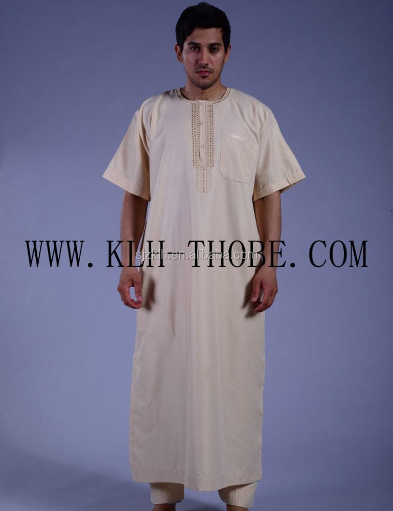 Men Arab Thobe/high End Muslim Jubah 2016 Zip Panel Hood Thobe ...