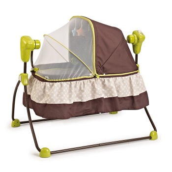 Baby Electric Infant Cradle automatic Swing Crib Folding Rocker Vibration Sleeping Bed With Canopy Mosquito Net  sc 1 st  Alibaba : swinging crib with canopy - memphite.com